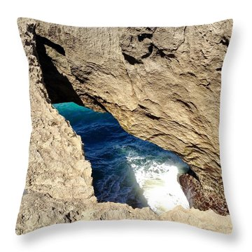 Big Hole  Throw Pillow