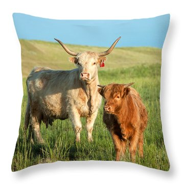 Big Horn, Little Horn Throw Pillow