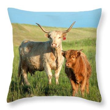 Big Horn, Little Horn Throw Pillow