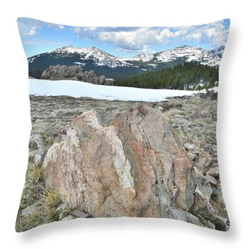 Big Horn Pass In Wyoming Throw Pillow