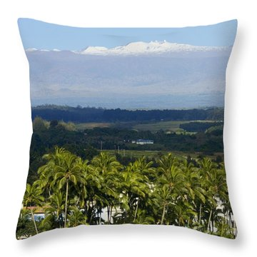 Big Island, Hilo Bay Throw Pillow by Ron Dahlquist - Printscapes