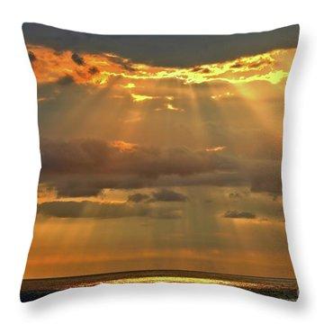 Throw Pillow featuring the photograph Big Island Rays by DJ Florek