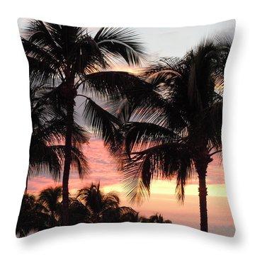 Big Island Sunset 1 Throw Pillow