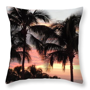 Big Island Sunset 1 Throw Pillow