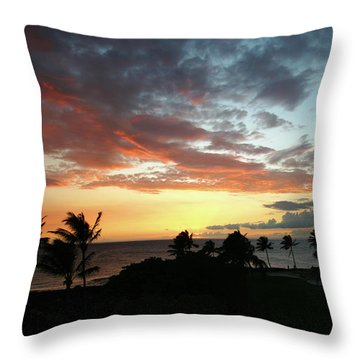 Throw Pillow featuring the photograph Big Island Sunset #2 by Anthony Jones