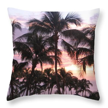Big Island Sunset 3 Throw Pillow