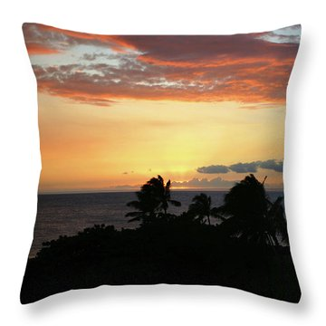 Throw Pillow featuring the photograph Big Island Sunset by Anthony Jones