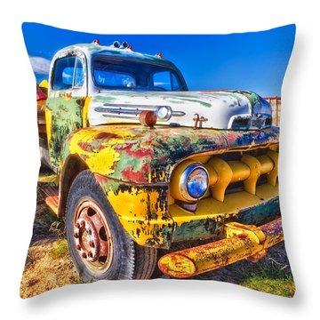 Big Job - Wide Throw Pillow
