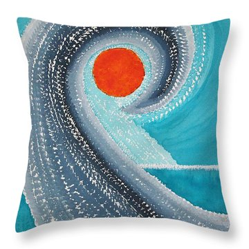 Big Kahuna Original Painting Throw Pillow