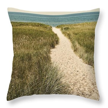 Throw Pillow featuring the photograph Big Lake Beach Path by Michelle Calkins