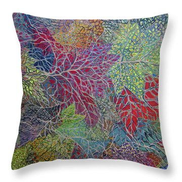 Big Leaf Maple Abstract Throw Pillow