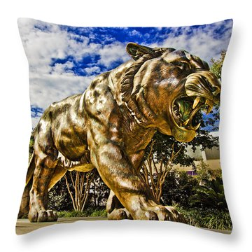 Big Mike Throw Pillow by Scott Pellegrin