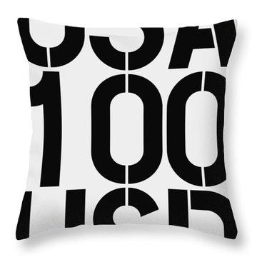 Big Money 100 Usd Throw Pillow