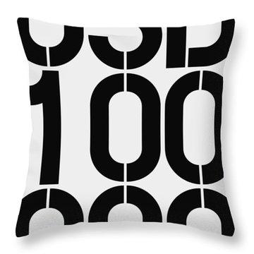 Big Money Usd 100 000 Throw Pillow