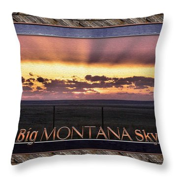 Throw Pillow featuring the photograph Big Montana Sky by Susan Kinney