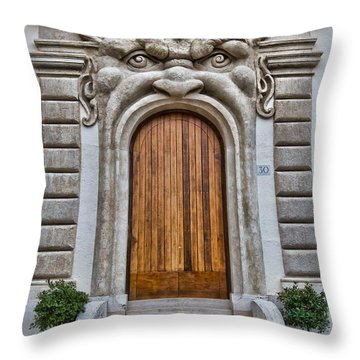 Throw Pillow featuring the photograph Big Mouth Door by Kim Wilson