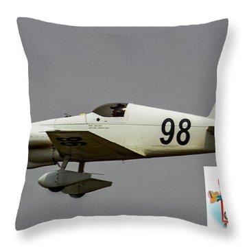 Big Muddy Air Race #98 Throw Pillow