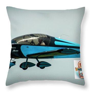 Big Muddy Air Race Number 100 Throw Pillow