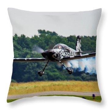 Big Muddy Air Race Number 14 Throw Pillow