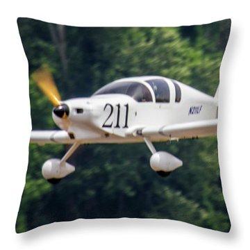 Big Muddy Air Race Number 211 Throw Pillow