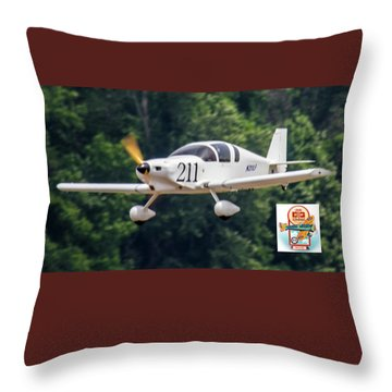 Big Muddy Air Race Number 390 Throw Pillow