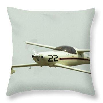 Big Muddy Air Race Number 22 Throw Pillow
