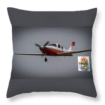 Big Muddy Air Race Number 3 Throw Pillow