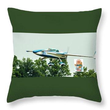 Big Muddy Air Race Number 36 Throw Pillow