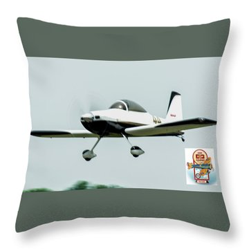Big Muddy Air Race Number 44 Throw Pillow
