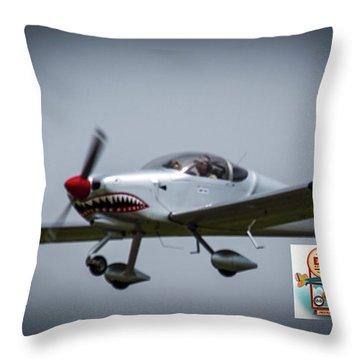 Big Muddy Air Race Number 5 Throw Pillow