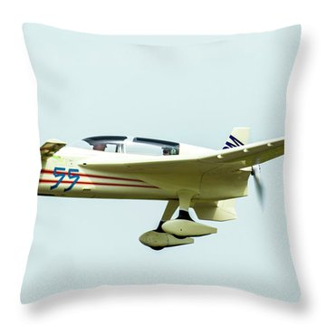 Big Muddy Air Race Number 55 Throw Pillow