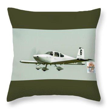 Big Muddy Air Race Number 6 Throw Pillow