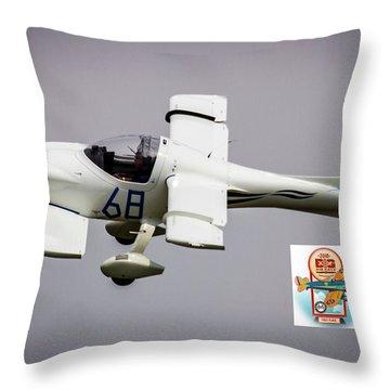Big Muddy Air Race Number 68 Throw Pillow