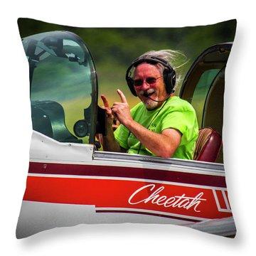 Big Muddy Air Race Number 73 Throw Pillow