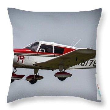 Big Muddy Air Race Number 79 Throw Pillow