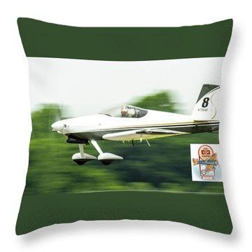 Big Muddy Air Race Number 8 Throw Pillow