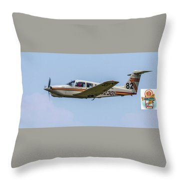 Big Muddy Air Race Number 82 Throw Pillow