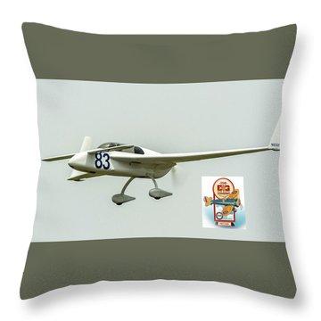Big Muddy Air Race Number 83 Throw Pillow