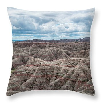 Big Overlook Badlands National Park  Throw Pillow