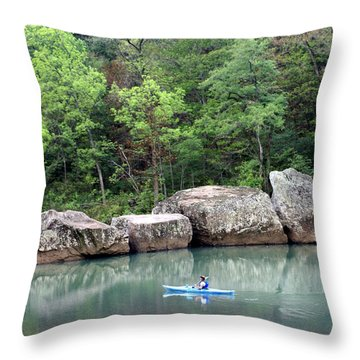Big Piney Creek 1 Throw Pillow by Marty Koch