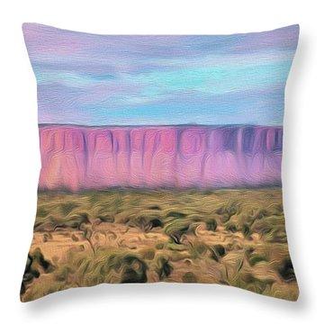 Big Pink Mesa Throw Pillow