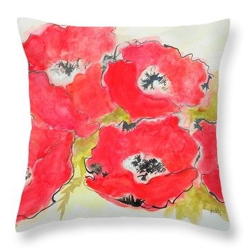 Big Red 1 Throw Pillow