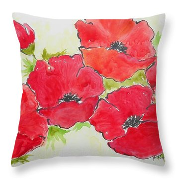 Big Red 3 Throw Pillow