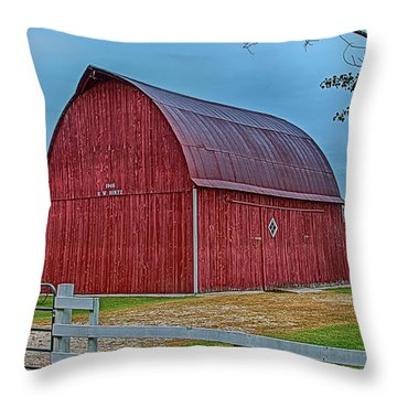 Throw Pillow featuring the photograph Big Red Barn At Cross Village by Bill Gallagher