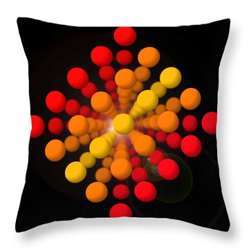 Big Red Figure Throw Pillow