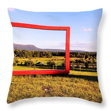 Big Red Frame Easthampton Throw Pillow