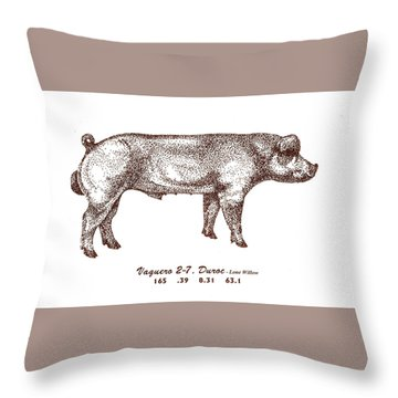 Throw Pillow featuring the photograph Big Red by Larry Campbell