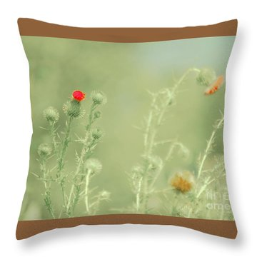 Big Red, Little Red Throw Pillow