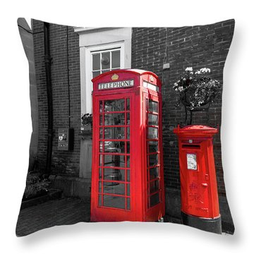 Throw Pillow featuring the photograph Big Red Little Red by Scott Carruthers