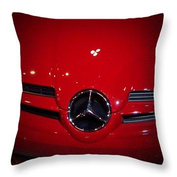 Big Red Smile - Mercedes-benz S L R Mclaren Throw Pillow